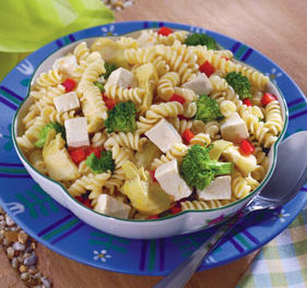 TOFU AND PASTA PRIMAVERA SALAD