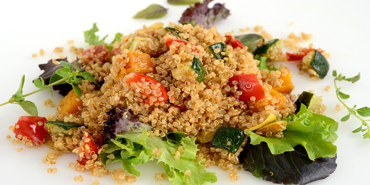 QUINOA AND ROASTED SQUASH WITH PEPPERS